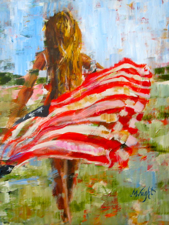 Figure Painting - Freedoms Charge by Molly Wright