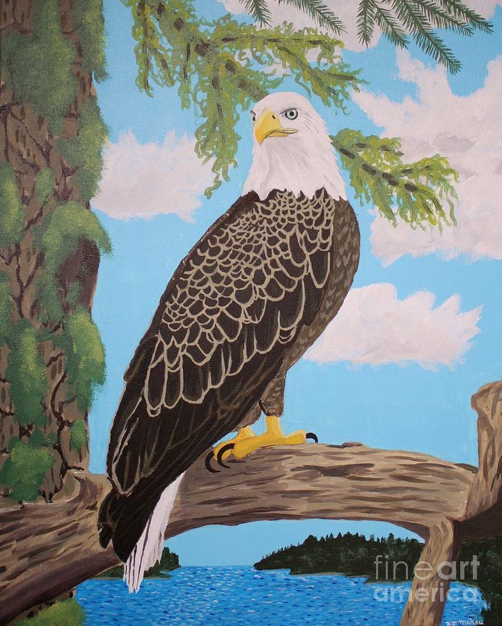 Bald Eagle Painting - Freedoms Pride by Vicki Maheu