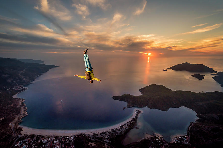 Action Photograph - Freefalling With Guillaume Galvani by Tristan Shu