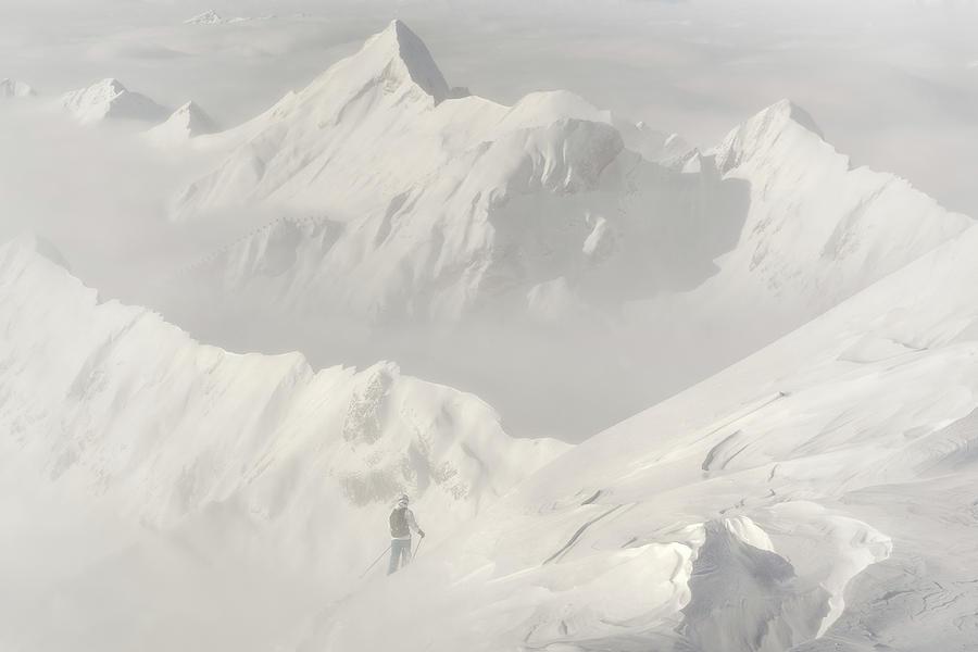 Snow Photograph - Freeride by Margit Lisa Roeder