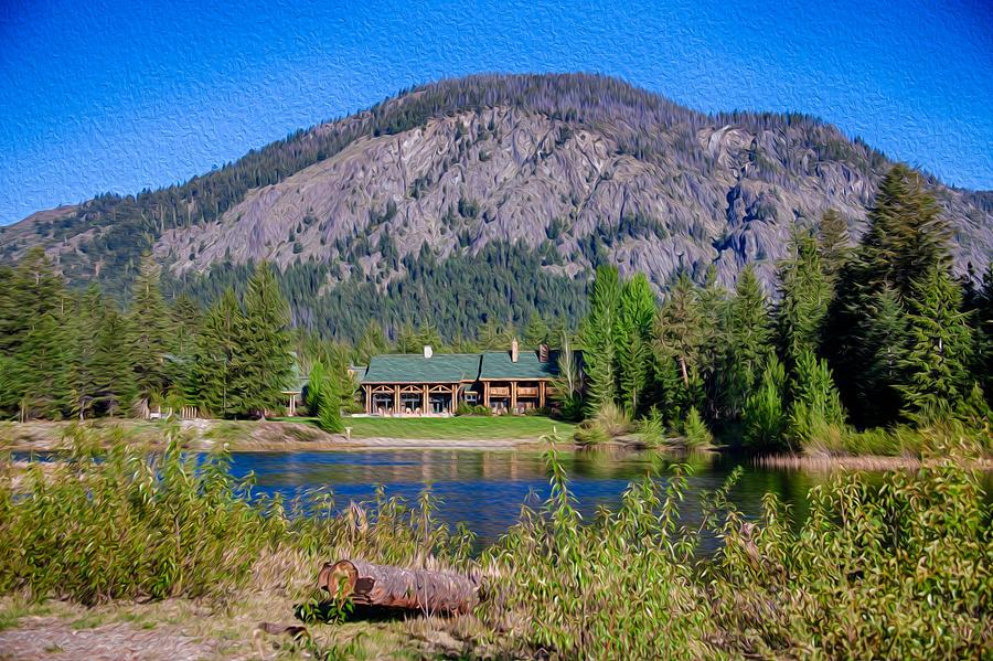 North Cascades Photograph - Freestone Inn Lakeside View by Omaste Witkowski