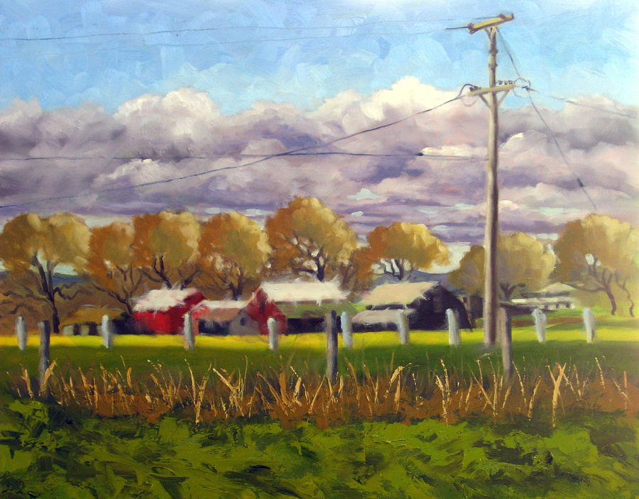 Freeway Farm Painting by Char Wood