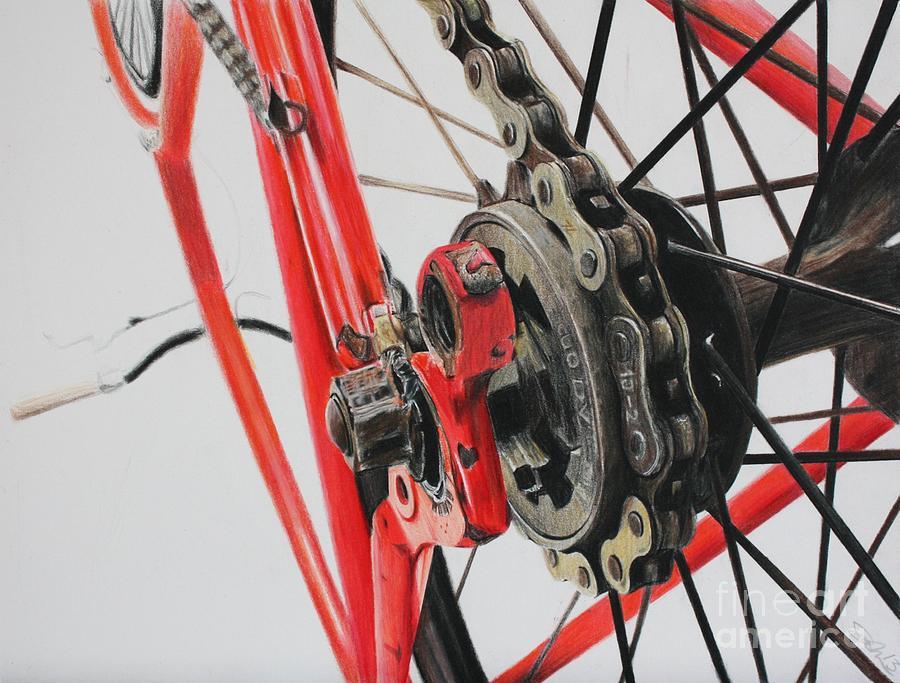 Freewheel Drawing - Freewheel by Joshua Navarra