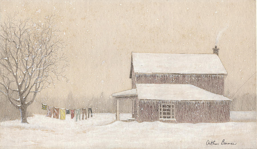 Snow Painting - Freeze-Dried Laundry by Arthur Barnes