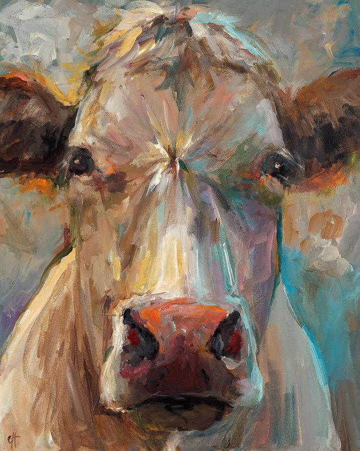 Cow Painting - Freida by Cari Humphry