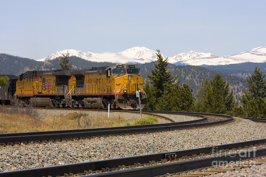 Freight On The Divide Photograph