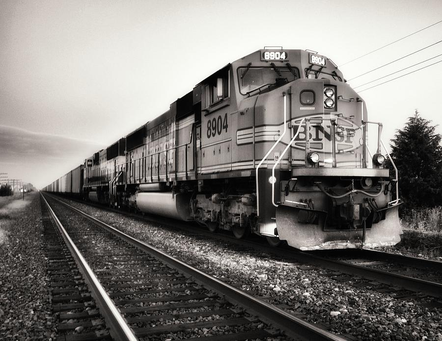 Freight Train Photograph - Freight Train by Tom Druin