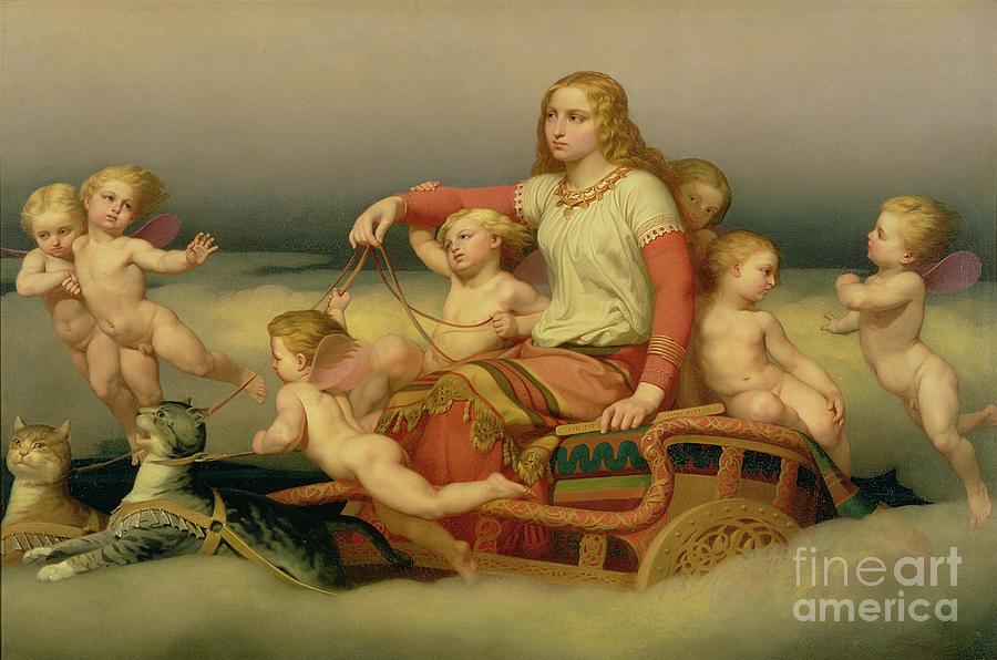 Freyja Painting - Freja Seeking Her Husband by Nils Blommer