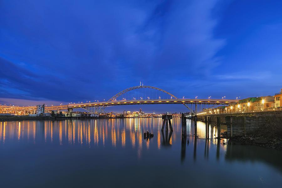 Fremont Bridge Photograph - Fremont Bridge Blues by David Gn