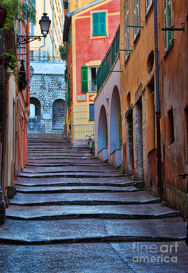 Cote D'azur Photograph - French Alley by Inge Johnsson