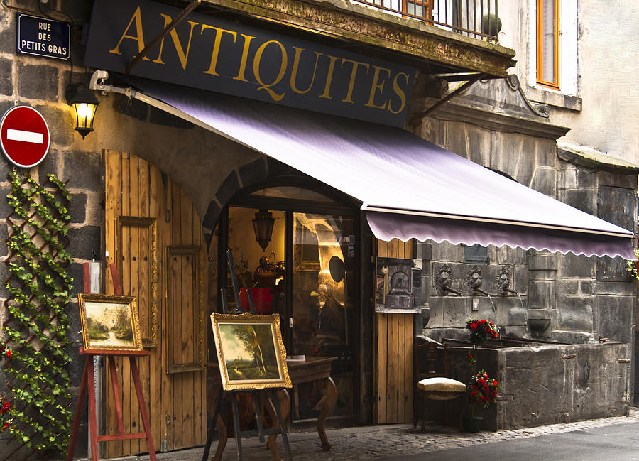 French Antique Store In Clermont Ferrand Photograph By