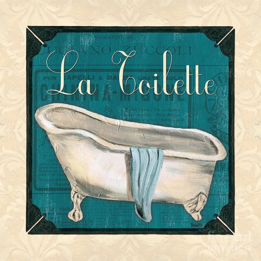 Bath Painting - French Bath by Debbie DeWitt