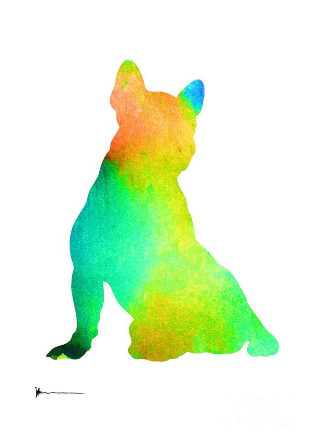 Bulldog Painting - French Bulldog Image Art Silhouette by Joanna Szmerdt