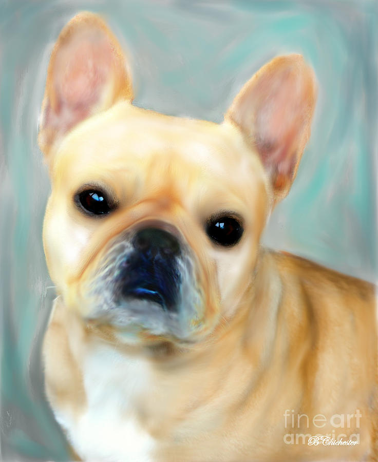 Pet Portraits Painting - French Bulldog Mystique Dor by Barbara Chichester