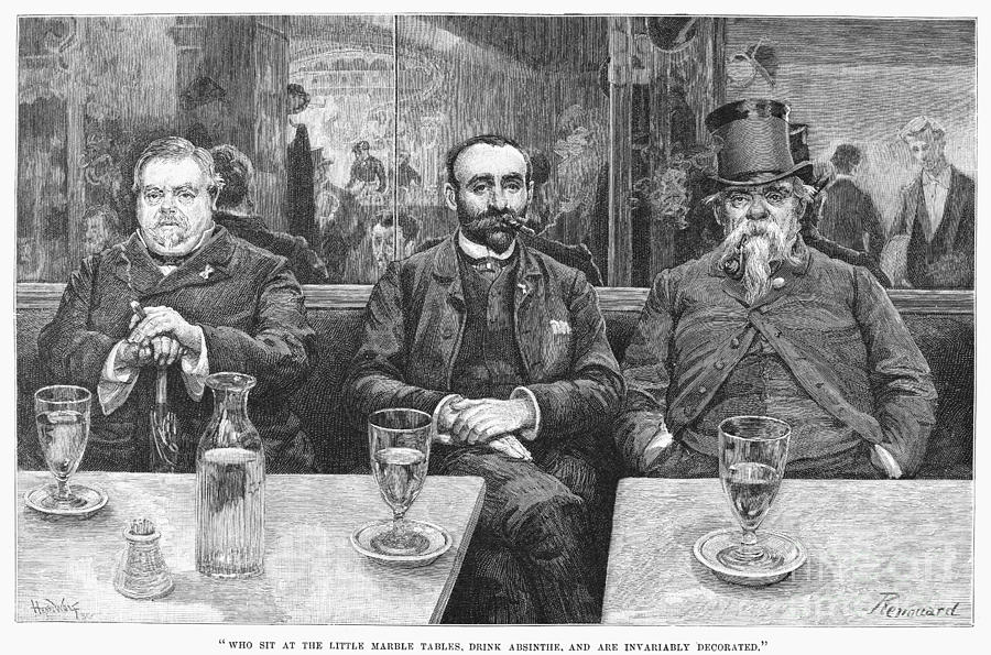 19th Century Photograph - French CafÉ, 19th Century by Granger