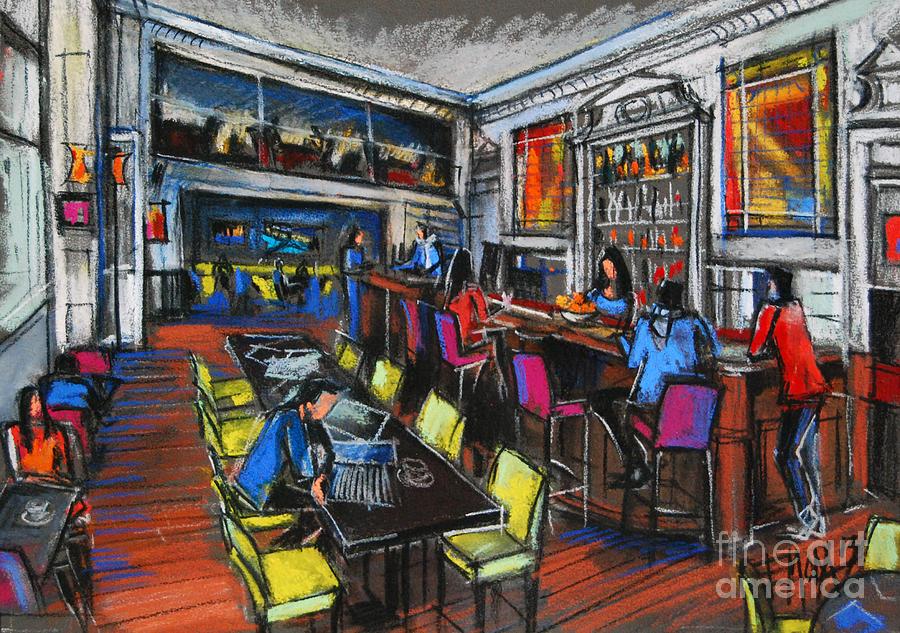 Emona Pastel - French Cafe Interior by Mona Edulesco