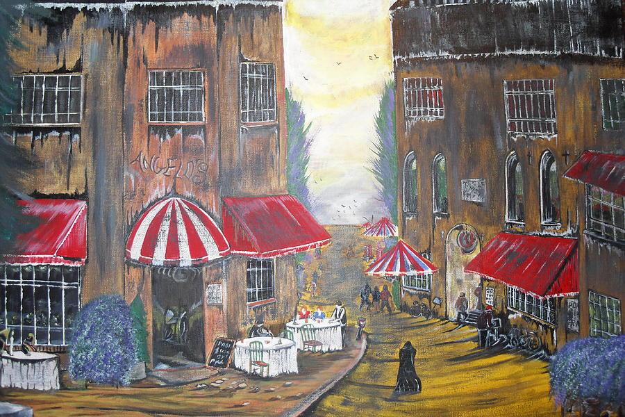 Street Cafe Paintings