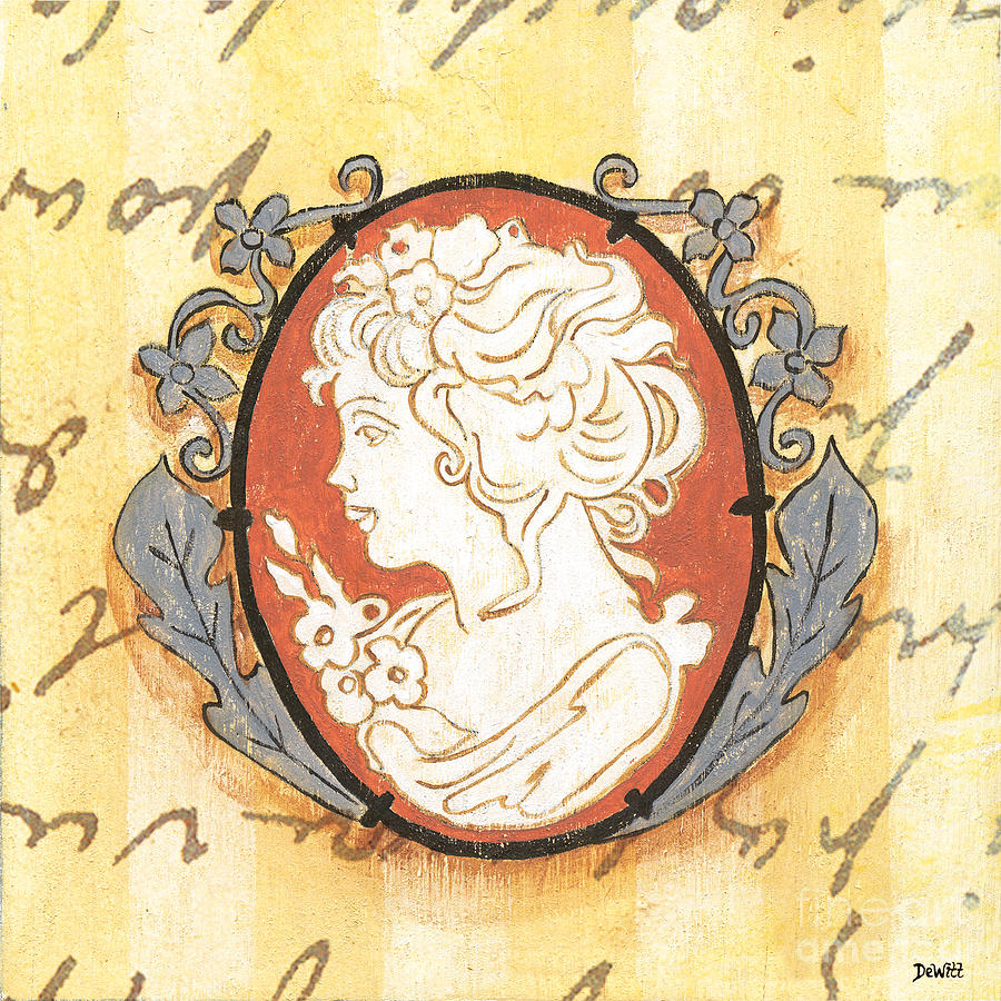 Cameo Painting - French Cameo 2 by Debbie DeWitt