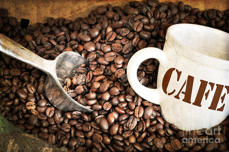 Coffee Photograph - French Coffee by Delphimages Photo Creations