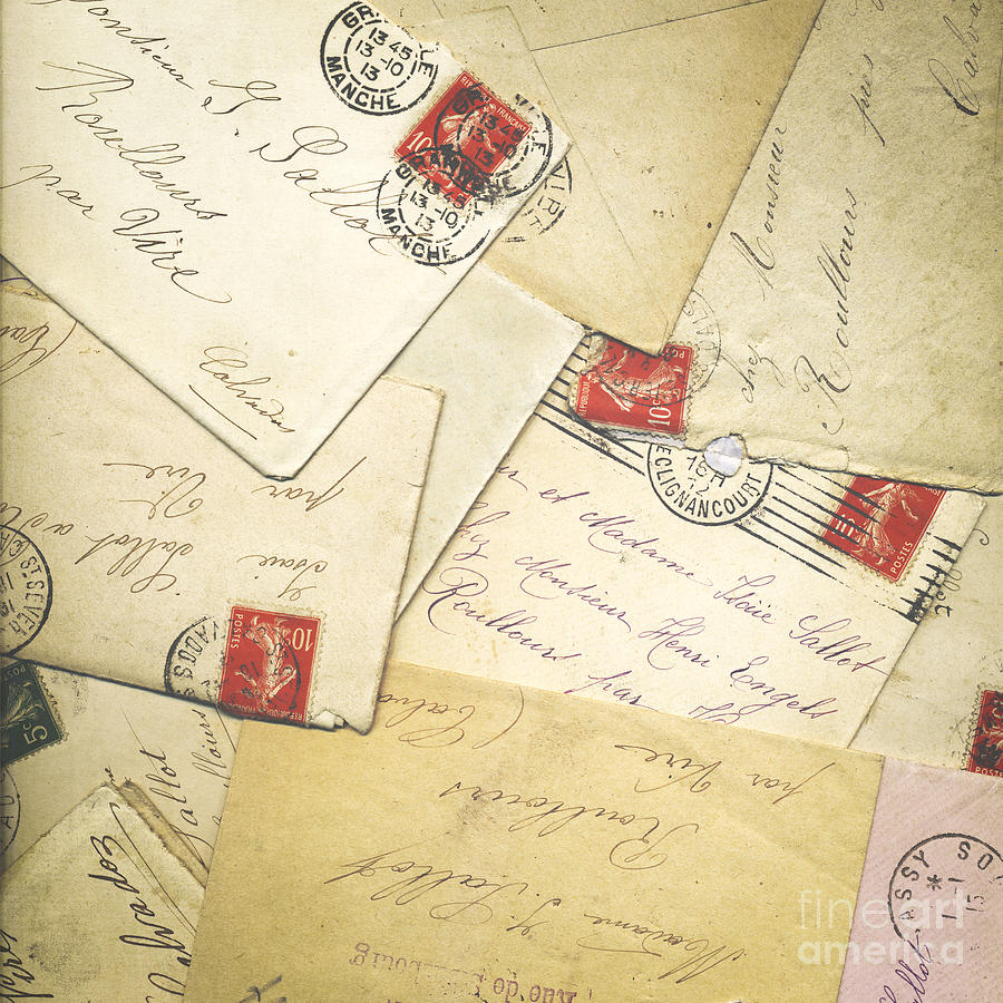 France Photograph - French Correspondence From Ww1 #1 by Jan Bickerton