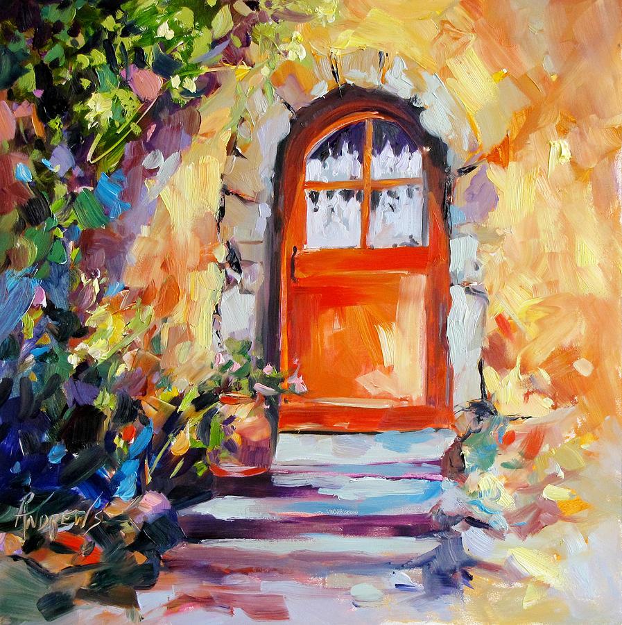 Doorway Painting - French Door by Rae Andrews