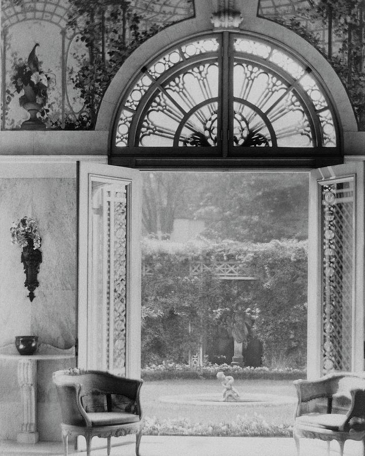 French Doors Leading To A Garden Photograph by Matsy Wynn Richards