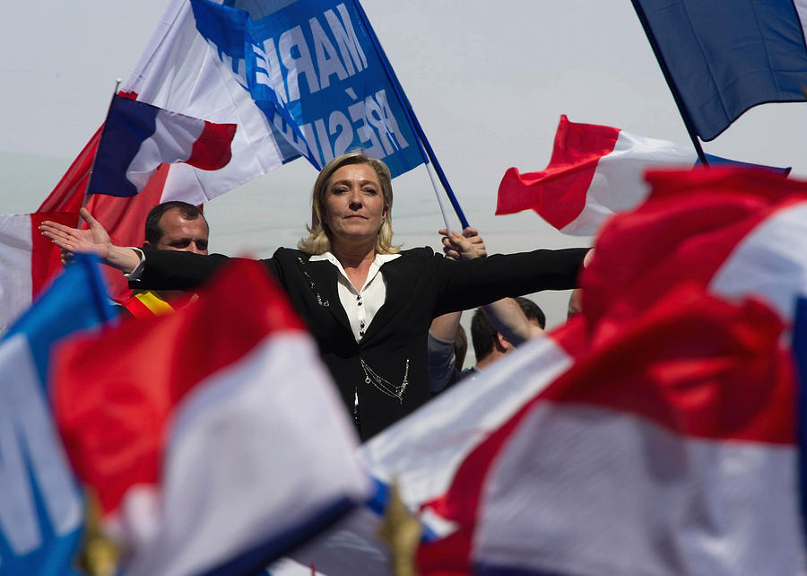 French Far Right Party Front National May Day Demonstration In Paris Photograph by Pascal Le Segretain