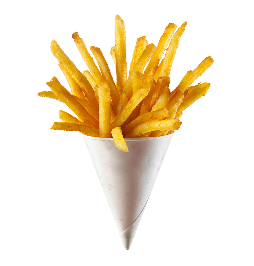 French Fries on White Background Photograph by Annabelle Breakey