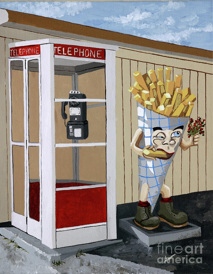 Restaurant Painting - French Fry Guy by Jennifer  Donald