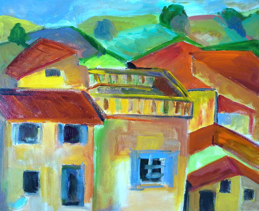 Labstract Painting - French Landscape by Brenda Ruark