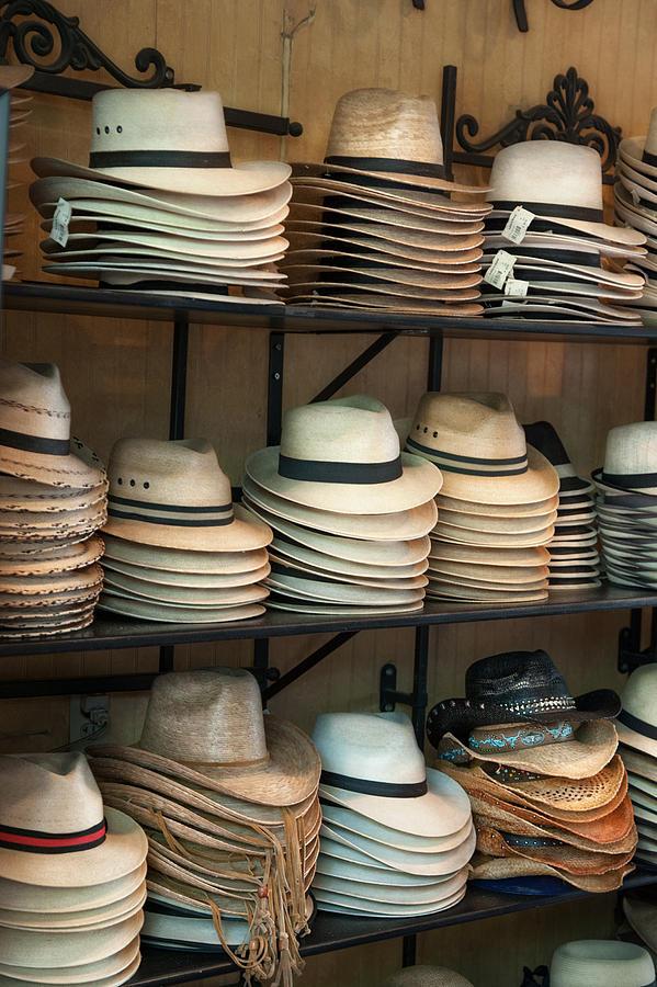French Market Photograph - French Market Hats by Brenda Bryant