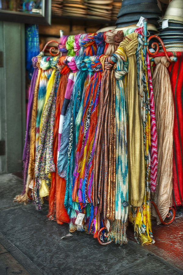 French Market Photograph - French Market Scarves by Brenda Bryant