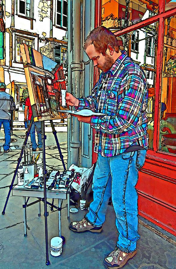 French Quarter Photograph - French Quarter Artist Painted by Steve Harrington