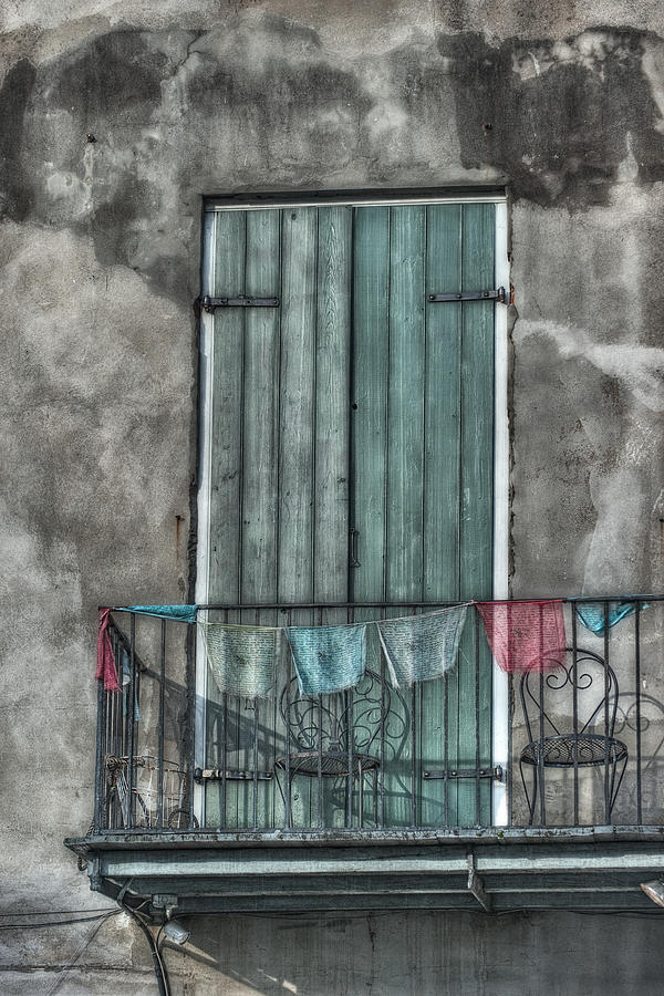 Door Photograph - French Quarter Balcony by Brenda Bryant