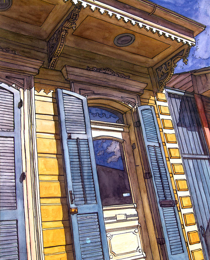 French Quarter Painting - French Quarter Door #346 by John Boles