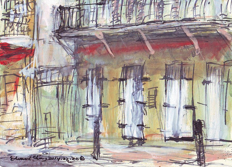 Jackson Drawing - French Quarter  by Edward Ching