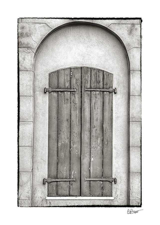 French Quarter Photograph - French Quarter Shutters In Black And White by Brenda Bryant
