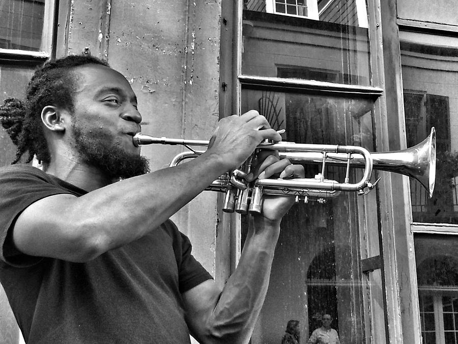 French Quarter Photograph - French Quarter Street Musician by Mike Barch