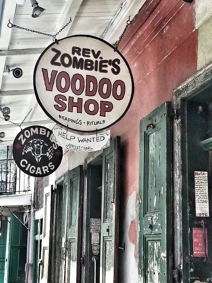 French Quarter Photograph - French Quarter Voodoo Shop by Mike Barch