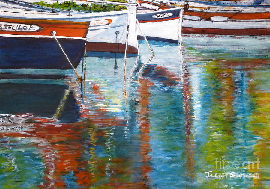 French Reflections - Sanary sur Mer France by Jackie Sherwood