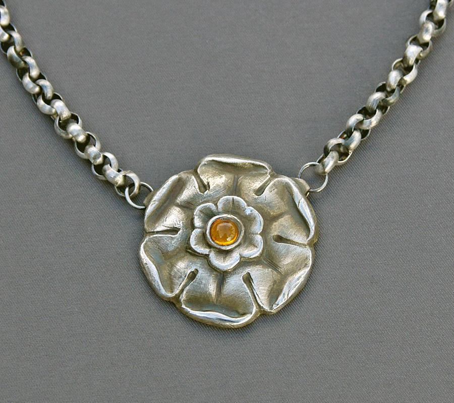 Fine Silver Jewelry - French Regency Pendant by Mirinda Kossoff