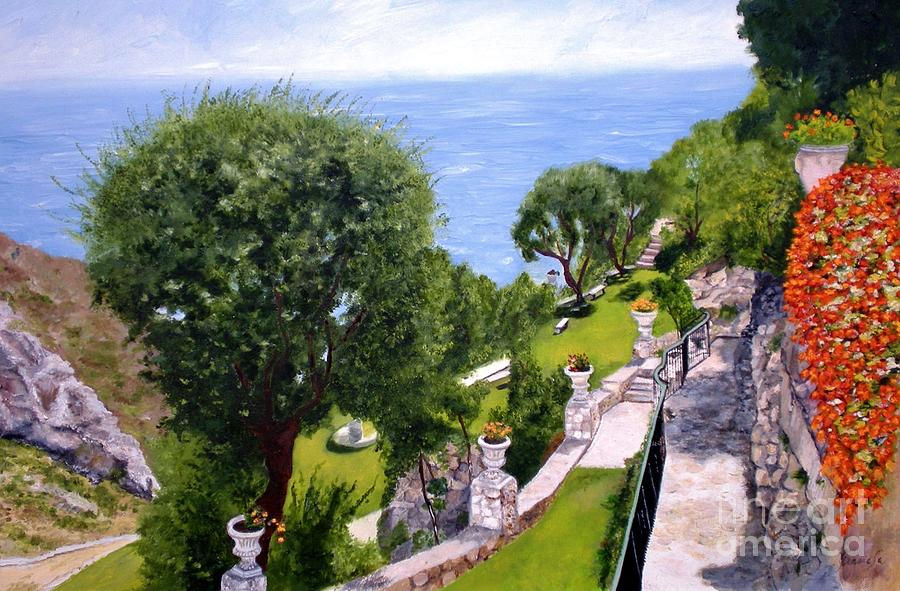 Landscape Painting - French Riviera by Graciela Castro