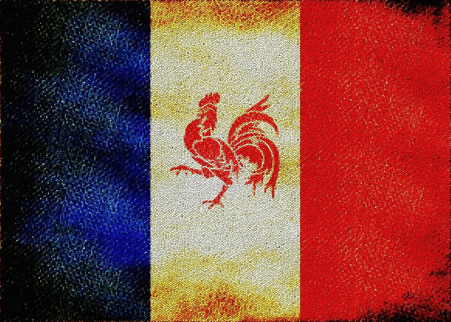 French Flag Painting - French Rooster by Jared Johnson
