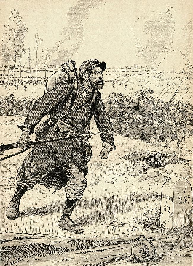 French soldier advances during the first battle of the - Battlefield 1 french soldier ...