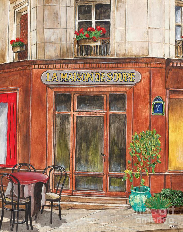 Restaurant Painting - French Storefront 1 by Debbie DeWitt