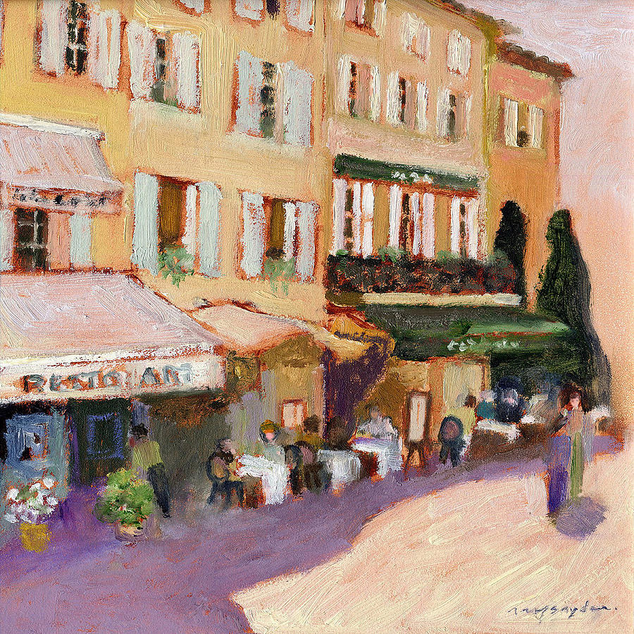 French Cafe Painting - French Village by J Reifsnyder