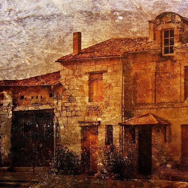 Stonehouse Photograph - #frenchhouse #frenchvillage #france by Georgia Fowler