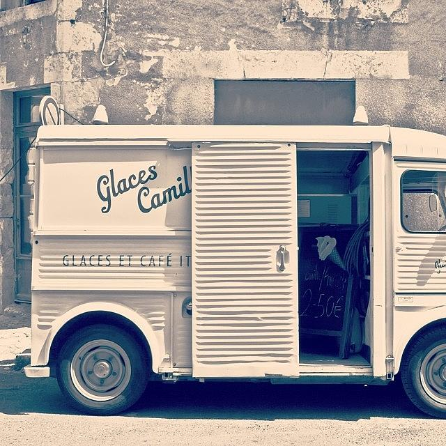 Europe Photograph - #frenchicecreamtruck #france #icecream by Georgia Fowler