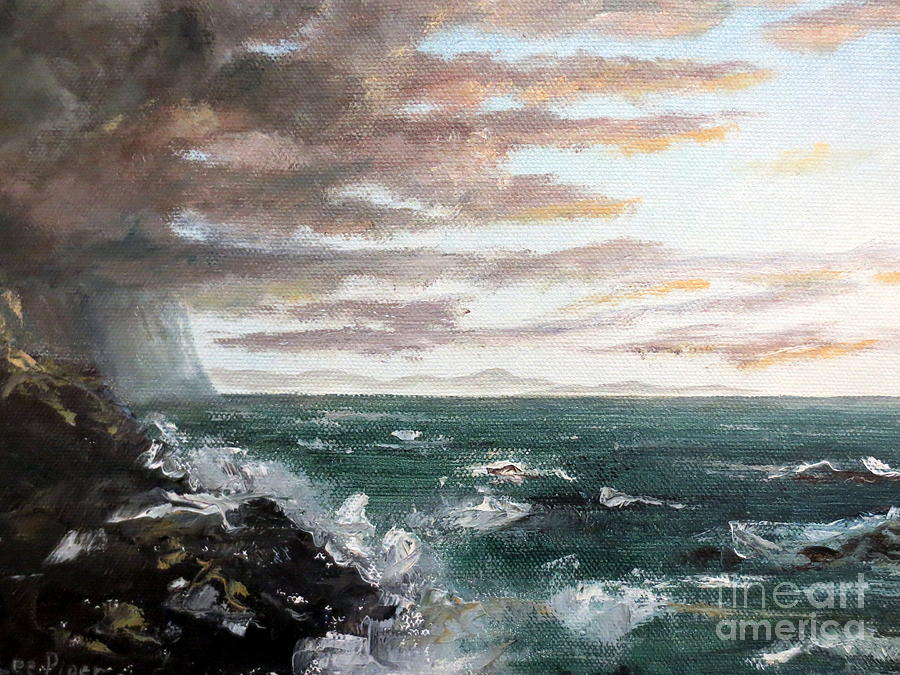 Ocean Painting - Frenchmans Bay by Lee Piper