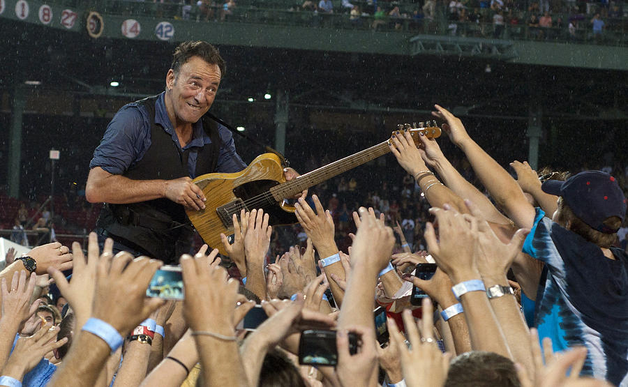 Bruce Springsteen Photograph - Frenzy At Fenway by Jeff Ross